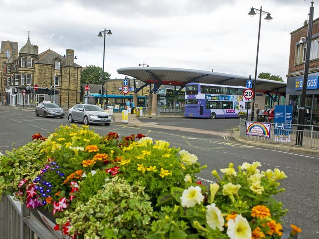 Pudsey Bus Station, Market Place, where the incident took place