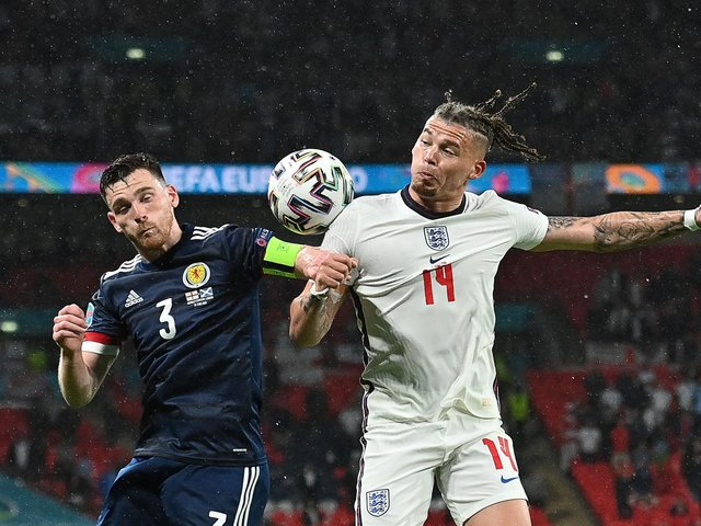 GOOD VALUE - Leeds United's Kalvin Phillips has nine points in the UEFA Euro 2020 Fantasy Football game thanks to his involvement for England in their first two games and an assist for Raheem Sterling's winner against Croatia. Pic: Getty