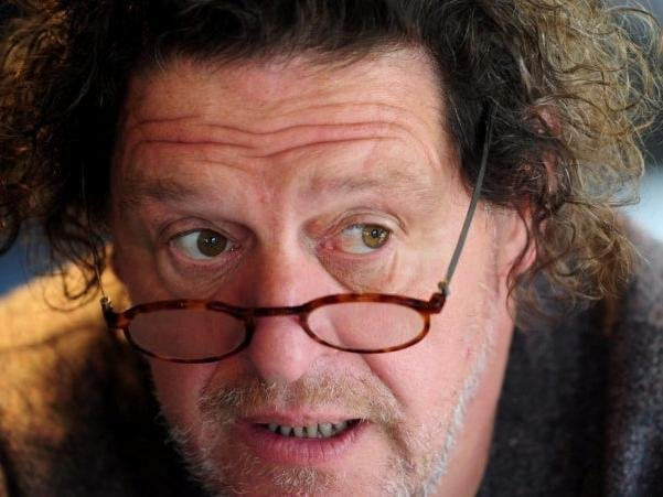 Marco Pierre white has been occupied with creating wildflower meadows, tending his shorthorn cattle and Wiltshire horn sheep during lockdown. PA.