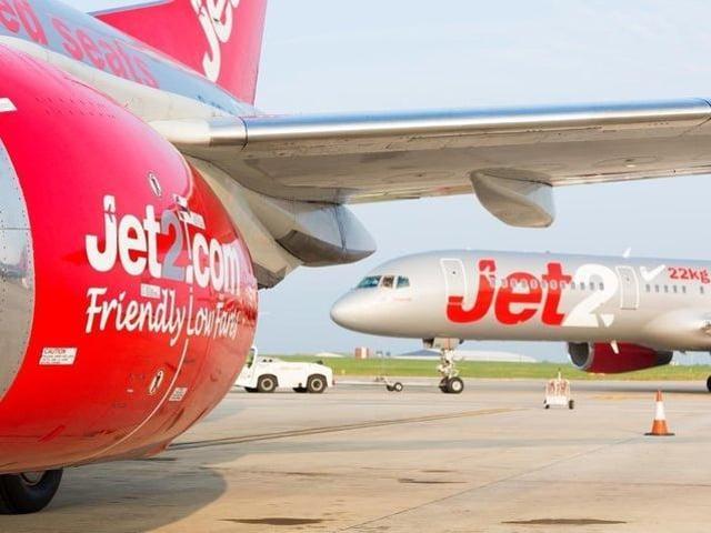 Jet2 travel stock image