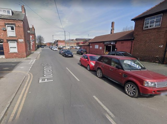 The chase came to an end when the Nissan Micra spun out of control on Florence Street.  Image: Google