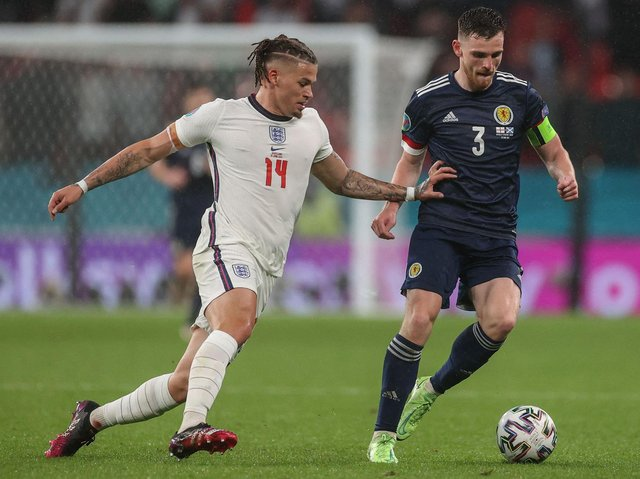 GROUP FINALE - Leeds United's Kalvin Phillips and England take on Czech Republic tonight while Scotland and Liam Cooper face Croatia. Pic: Getty