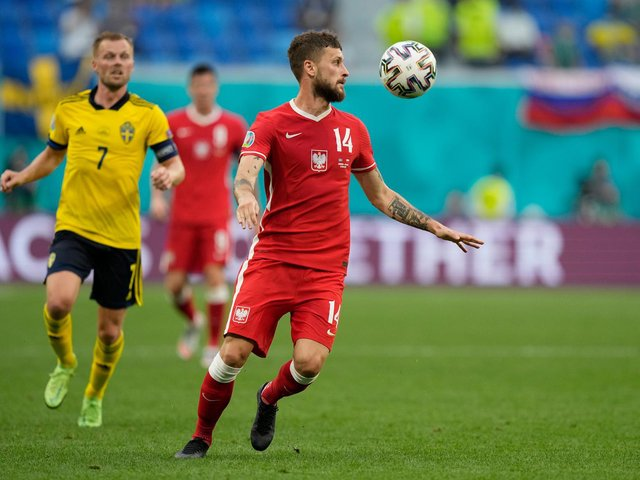 EUROS EXIT: For Leeds United's Polish international midfielder Mateusz Klich. Photo by Dmitry Lovetsky - Pool/Getty Images.