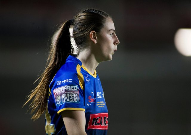 Leeds Rhinos' Fran Goldthorp is eyeing an England debut against Wales. Picture: Isabel Pearce/SWpix.com.