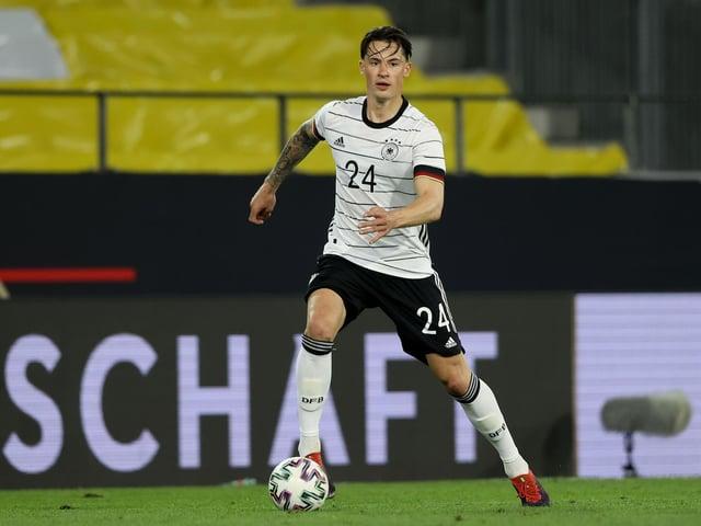 Leeds United's German international defender Robin Koch. Photo by Alexander Hassenstein/Getty Images.