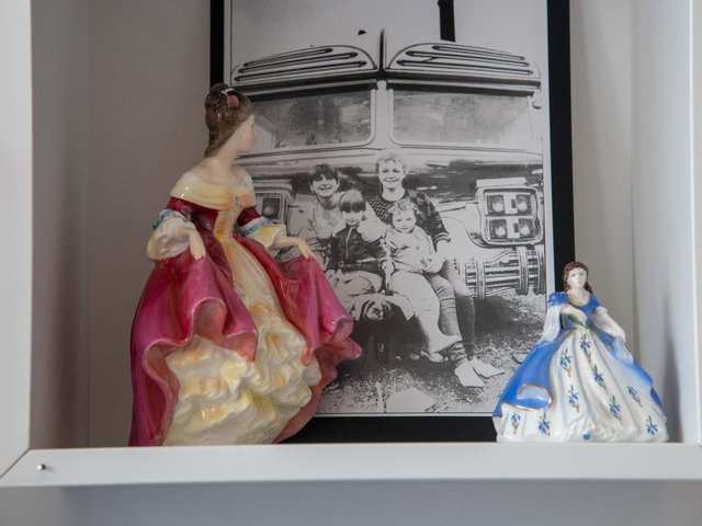 Heritage items on the wall at Leeds GATE, which is celebrating Gypsy, Roma and Traveller History Month