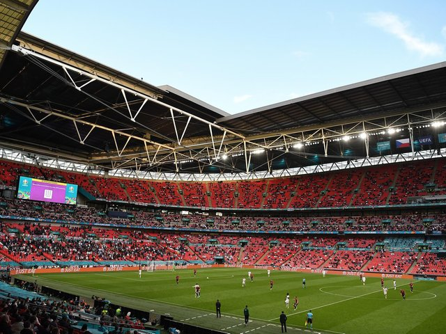 THE MAIN STAGE: Wembley, which will host both the semi-finals and the final of this summer's European Championships.