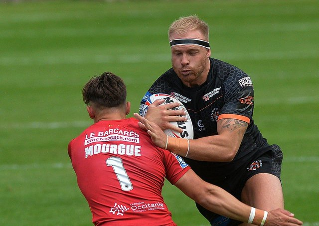 Collector's item: Castleford forward Liam Watts was pressed into action at stand-off as patched-up Tigers lost at home to Catalans Dragons.Picture: Jonathan Gawthorpe