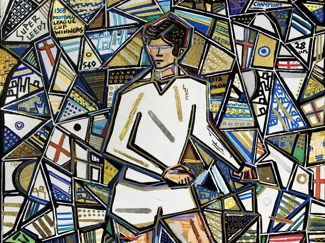 Leeds football legend Norman Hunter is being commemorated with a specially-commissioned painting by celebrated sporting artist Ben Mosley.