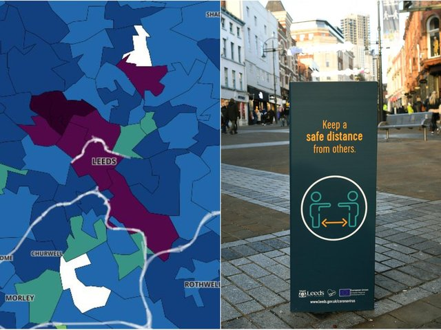 Here we reveal the Leeds areas with the highest rates in the seven days to June 22