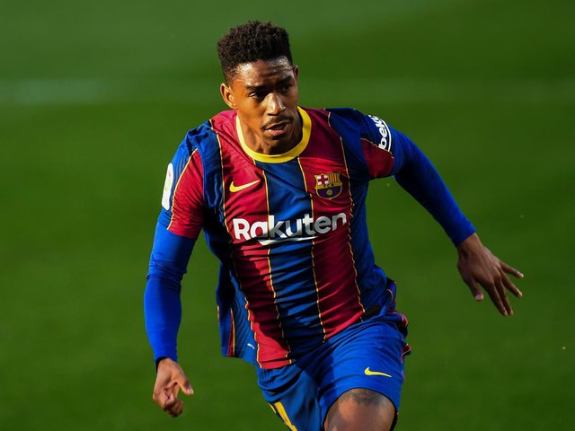 ORTA TARGET - Barcelona left-back Junior Firpo is one of the players on Leeds United director of football Victor Orta's shortlist. Pic: Getty