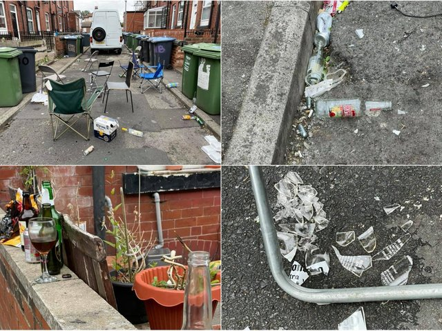 Sukhvir Thethi, 51, posted the photographs of the damage on local Leeds forum Leedsplace - much to the horror of residents of the area.
