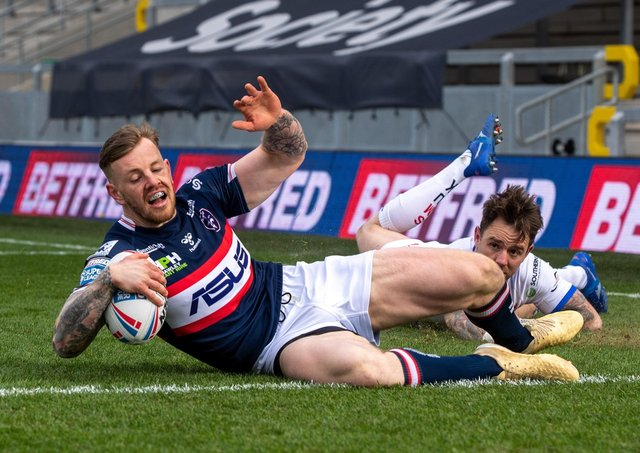 Wakefield's 25-year-old winger Tom Johnstone has had two knee construction and suffered another knee injury in Trinity's win over Wigan last week. Picture: Bruce Rollinson.