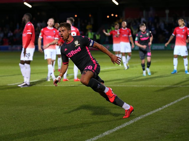 Enjoy these memories from Leeds United's 3-0 Carabao Cup first round win against Salford City in August 2019. PIC: Getty