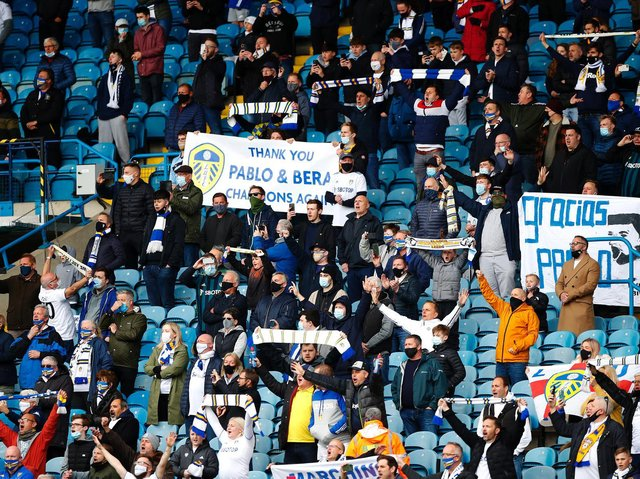 Leeds United fans at Elland Road. Pic: Getty