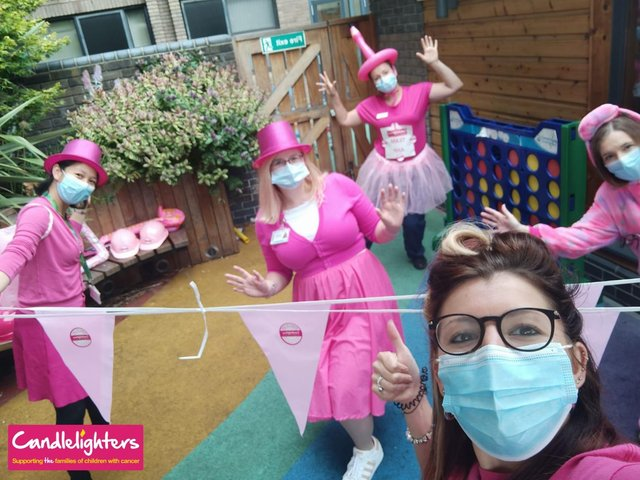 Leeds Children's Hospital NHS staff are taking on a 900k-step walking challenge for  Candlelighters during the children's cancer charity's 'Pink It Up' week - designed  to raise funds and awareness for children with cancer.
