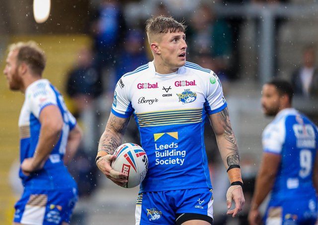 Liam Sutcliffe is back in the Leeds Rhinos squad to face Leigh Centurions. Picture: Alex Whitehead/SWpix.com.