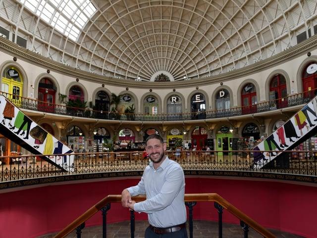 Adam Warner, centre manager at the Corn Exchange (photo: Gerard Binks)