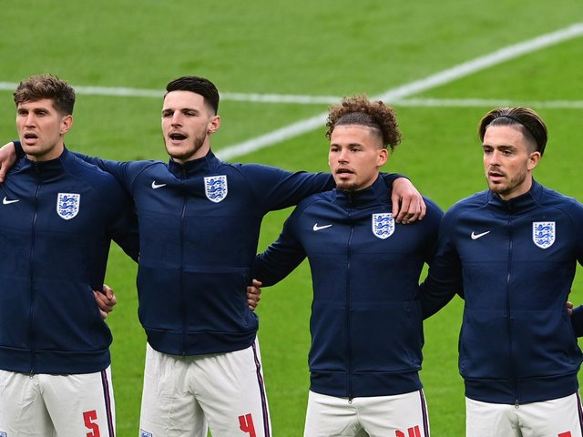 MIDFIELD PARTNERS - West Ham United's Declan Rice and Leeds United's Kalvin Phillips have formed a solid partnership for England at Euro 2020. Pic: Getty
