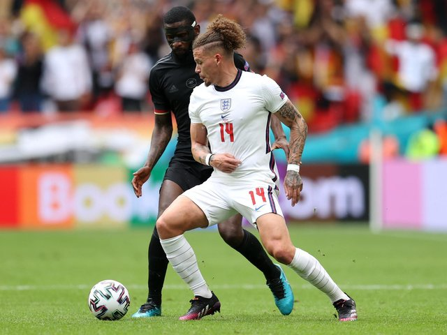 TREMENDOUS JOB - Former Leeds United and England defender Rio Ferdinand was impressed by Kalvin Phillips and Declan Rice in the Three Lions win over Germany at Euro 2020. Pic: Getty