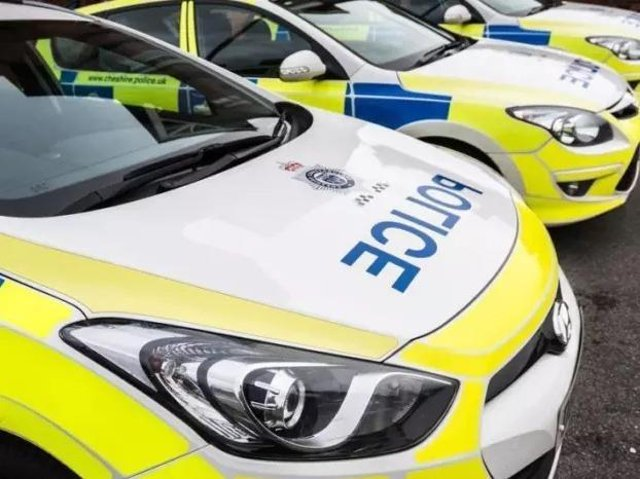 Police cars stock image