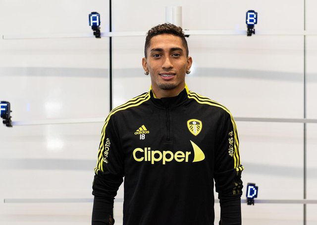 STARTING AGAIN - Raphinha missed last year's pre-season with Leeds United but will get the full Marcelo Bielsa experience in 2021. Pic: LUFC