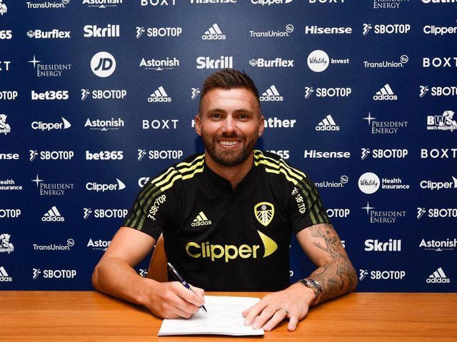 Leeds United's Stuart Dallas has penned a new three-year deal at the club. Pic: LUFC