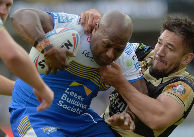 Rob Lui in his comeback game for Leeds Rhinos against Leigh Centurions. Picture: Jonathan Gawthorpe/JPIMedia.
