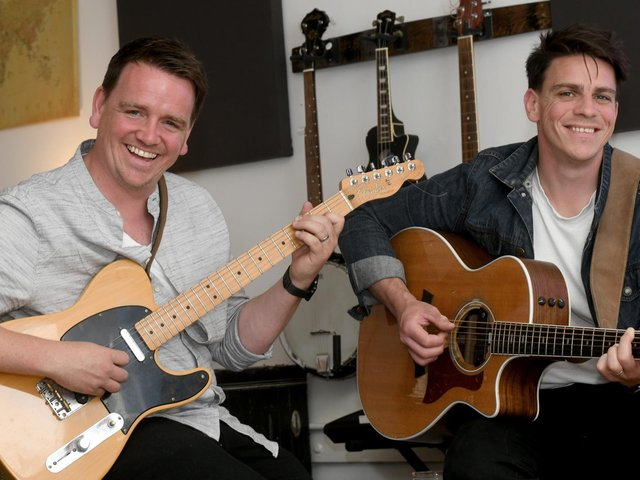 Dave (left) and Joe Dunwell have been raising the spirits of the nation with their live shows during lockdowns