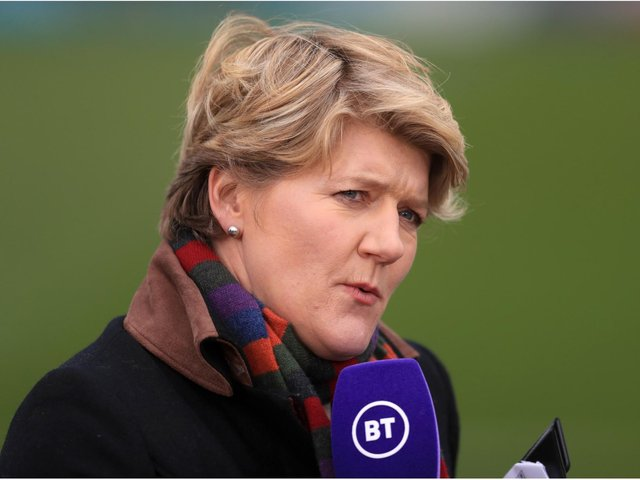BT Sport presenter Clare Balding before the FA Women's Super League match at Kingsmeadow, London. Picture date: Sunday March 28, 2021. PA