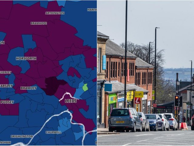 Here are the Leeds areas where the Covid infection rate is rising fastest