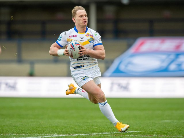 Rhinos' in-form hooker Brad Dwyer began his career at Warrington. Picture by Bruce Rollinson.
