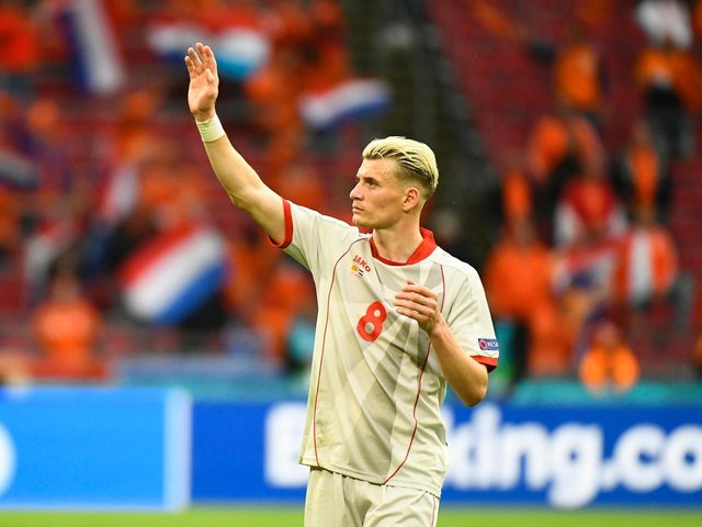 FAREWELL: From Leeds United's North Macedonia international Gjanni Alioski after four years at the club. Photo by Piroshka van de Wouw - Pool/Getty Images.