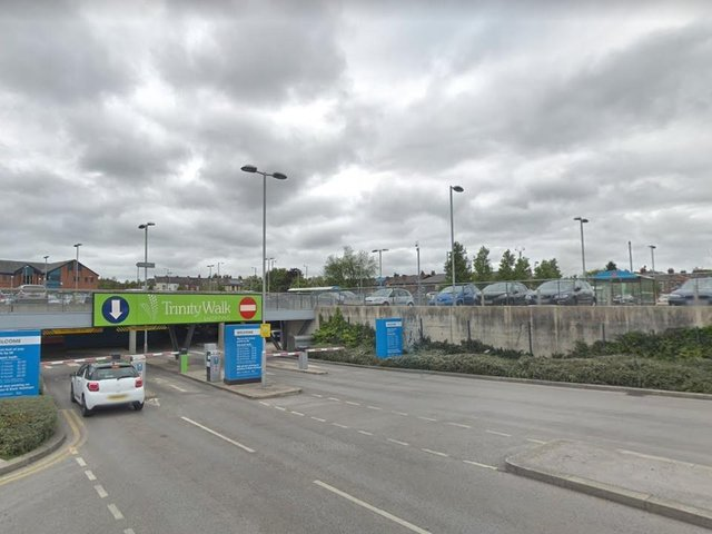 Jason Senior crashed through barriers at Trinity Walk Centre, in Wakefield, during police chase.