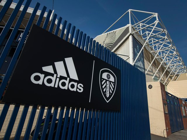Kit supplies Adidas signed a five-year deal with Leeds United last summer. Pic: Getty