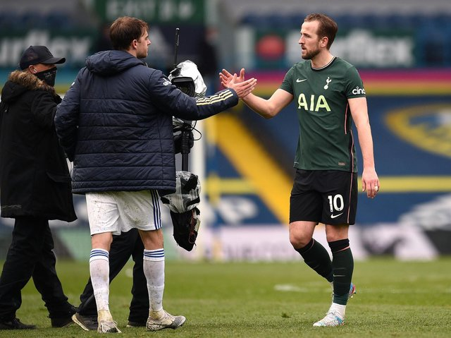 GOAL GETTERS - Patrick Bamford scored 17 for Leeds United last season and Tottenham Hotspur striker Harry Kane was the only Englishman to get more in the Premier League. Pic: Getty