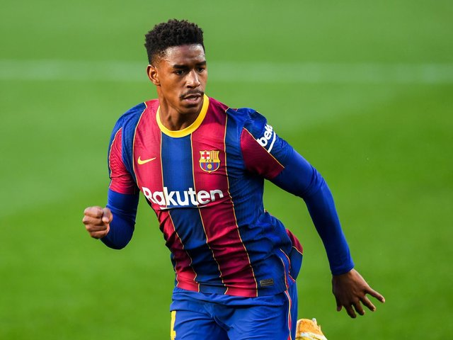 MESSAGE: To new Leeds United left back Junior Firpo, above, from his former club Barcelona. Photo by David Ramos/Getty Images.