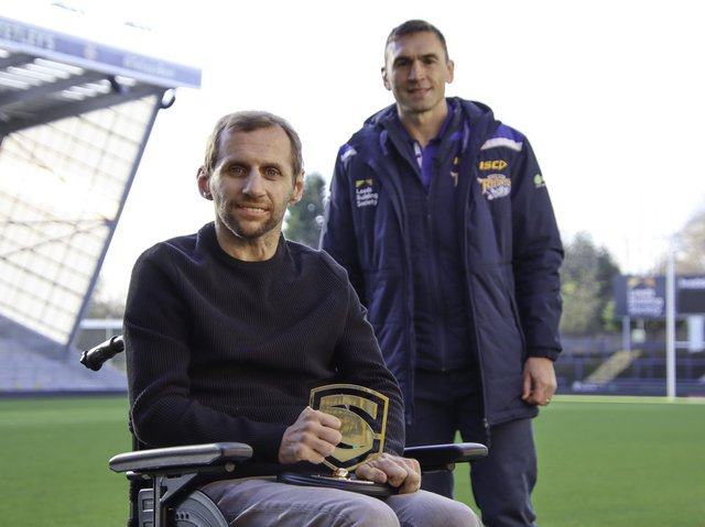 rob Burrow, left, with Kevin Sinfield. Picture by SWpix.com.