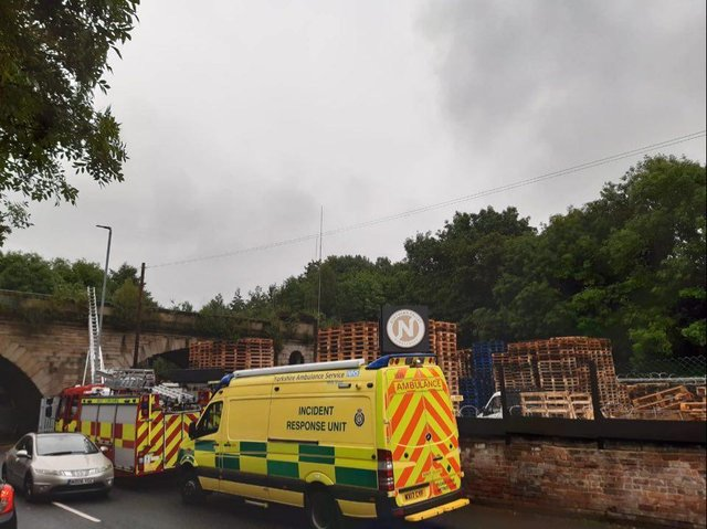 All emergency services are at Kirkstall viaduct this morning dealing with an incident.