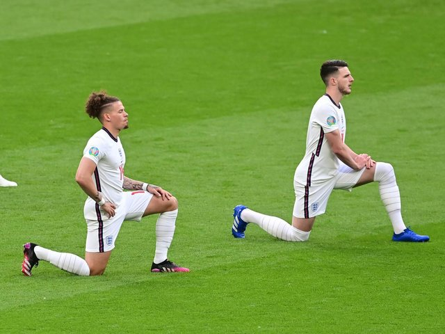 KEY DUO - Leeds United's Kalvin Phillips has formed a solid midfield partnership with West Ham United's Declan Rice for England. Pic: Getty