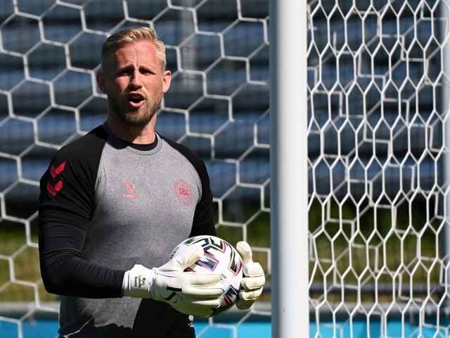 WIND UP: From Denmark's former Leeds United goalkeeper Kasper Schmeichel, above. Photo by JONATHAN NACKSTRAND/AFP via Getty Images.