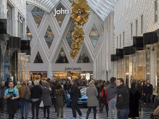 Department store John Lewis has announced plans to build 10,000 rental homes. Pictured: John Lewis in Leeds. Photo taken by James Hardisty.