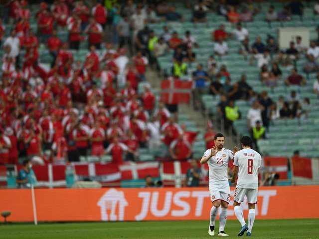 ONE-TWO - Pierre-Emile Højbjerg and Thomas Delaney will bring the fight to the England midfield tonight for Denmark at Wembley. Pic: Getty