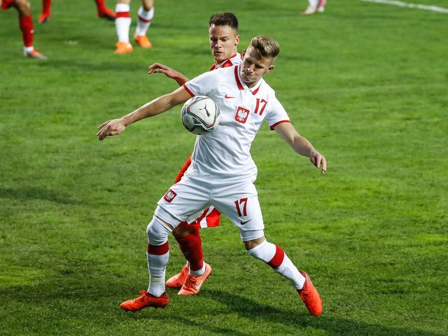 Leeds United midfielder Mateusz Bogusz in action for Poland. Pic: Getty