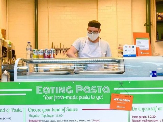 Cosimo Usai opened Eating Pasta in Kirkgate Market last October