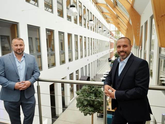Pictured managing director Chris Lawson, left, and senior architect Marlon Cooray. Photo: Jonathan Gawthorpe