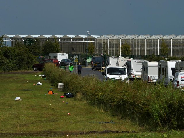The Arium at Whinmoor, which has forced to close due to travellers setting up camp. Photo: Jonathan Gawthorpe