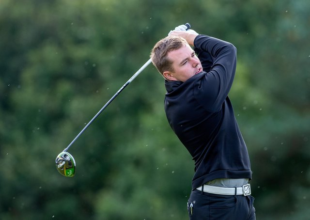 OPEN DATE: Howley Hall golfer Ben Hutchinson has qualified for this year's Open at Royal St George's. Picture: Bruce Rollinson.