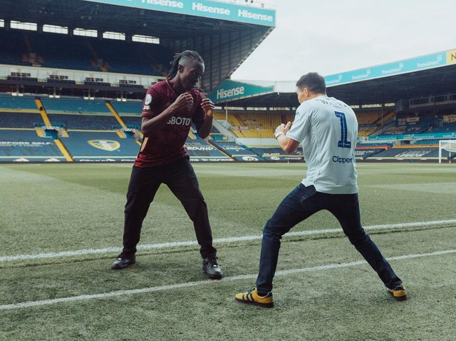 Graft and Josh Warrington on the set of the You Know What music video