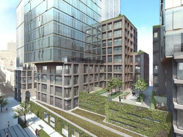 Plans for the new flats near Regent Street.